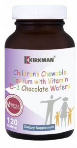 Childrens Chewable Calcium Chocolate Wafers - Chewable Waffle