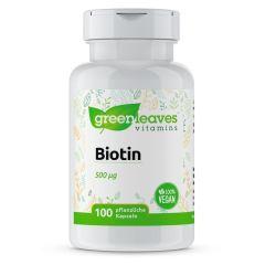 Biotin 500 mcg- 100 Vegetarische Kapseln