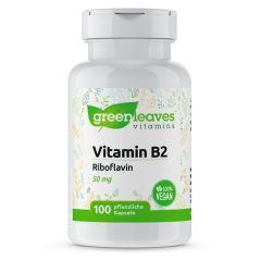 Vitamin B2 50 mg- 100 Vegetarische Kapseln