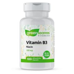 Vitamin B3 Niacin 100 mg- 100 Vegetarische Kapseln