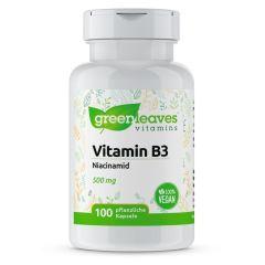 Vitamin B3 Niacinamid 500 mg- 100 Vegetarische Kapseln