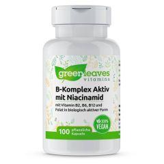 Vitamin B-Komplex Aktiv mit Niacinamid - 100 Vegetarische Kapseln
