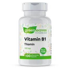 Vitamin B1 100 mg - 100 Vegetarische Kapseln