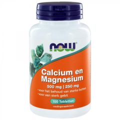 Calcium 500 mg and Magnesium 250 mg - 100 tablets