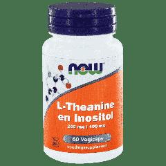 L-Theanine 200 mg and Inositol 100 mg - 60 veg. kapsler