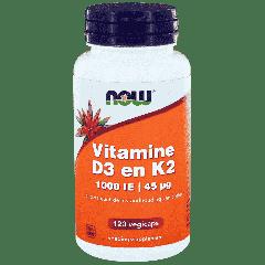 Vitamine D3 1000 IE & Vitamine K2 - 120 veg. capsules