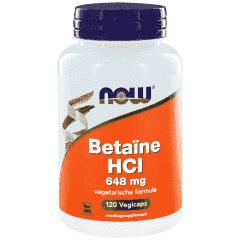 Betaïne HCI 648 mg - 120 veg. Kapsler
