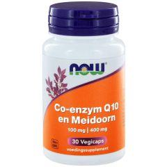 Co-enzym Q10 100 mg en Meidoorn 400 mg - 30 veg. Capsules