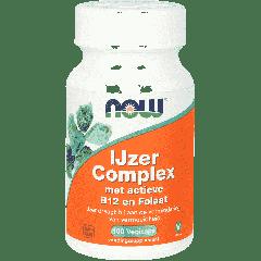 Ijzer Complex met actieve B12 en Folaat - 100 veg. capsules